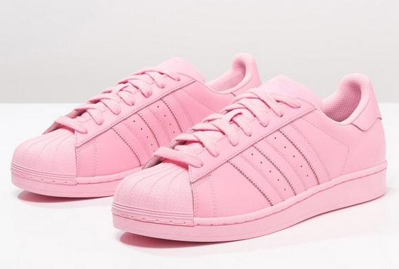 adidas superstar femme blanc et rose